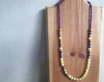 Starla under the sun, gemstone necklace, statement necklace