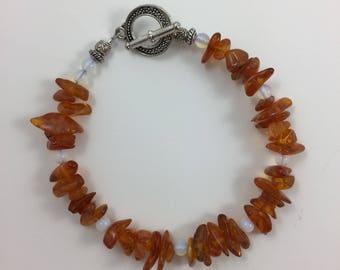 Amber Bead Bracelet by Pottery Lovely