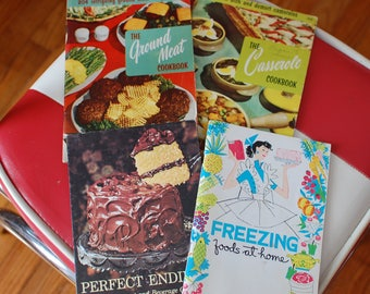 Lot of 4 Vintage Cookbooks 50's and 60's FREE SHIP