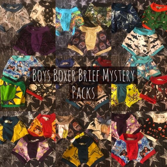 Boys Boxer Briefs -Mystery Packs 3-6-12