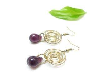 Bohemian earrings ear (hypnotic lilac ())