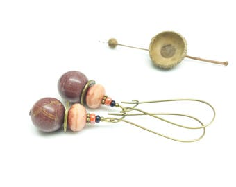 Large Retro earrings ~; ~ Jasper Rose ~ ~.