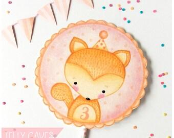 Baby Shower Cake Topper,Birthday Cake Topper,Woodland Animal Cake,Topper,Baby Animal Cake Topper,Baby's 1st Birthday,Paper Cake Topper