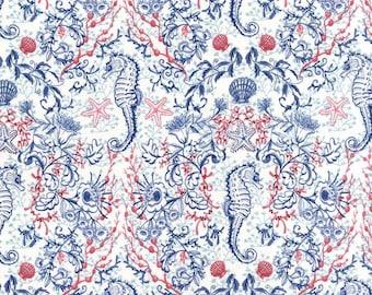 Sealife by Michael Miller - Kelp Mates Navy - Cotton Woven Fabric