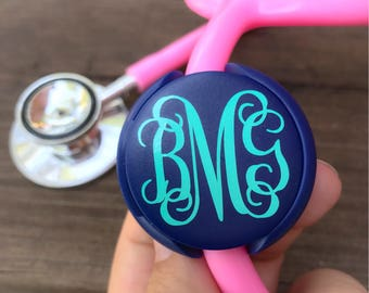 Nurse Stethoscope Name Tag Nurse Gift Stethoscope Accessories Monogram Stethoscope ID tag Nurse Accessories Pinning Gift Doctor Gift for her