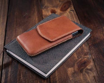 Samsung Galaxy S8/S8 Plus Handmade Leather Pouch Case Multicolor #0531