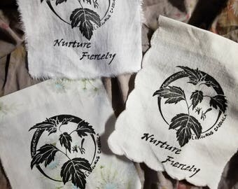 Motherwort Nurture Fiercely Flag, botanical art