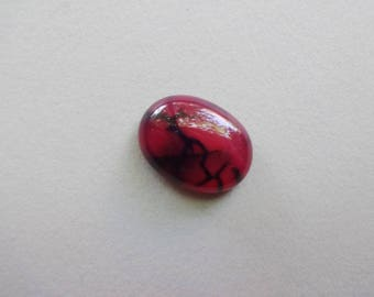 Dragon Veins Agate oval cabochon 20x15 mm
