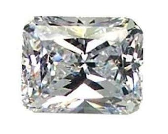 Cubic Zirconia Crystal Clear White Octagon AAA Loose Stones (6x4mm - 18x13mm)