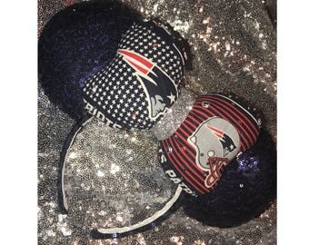 New England Patriots Minnie Mouse Ears