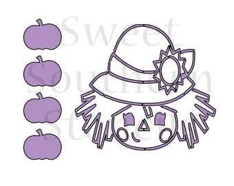 Girl Scarecrow PYO Cookie Stencil