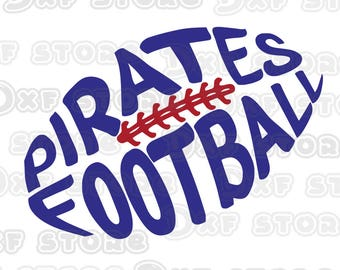 Pirates Football ,Southwestern , SVG,DXF,PNG for use with Silhouette Studio and Cricut Design Space