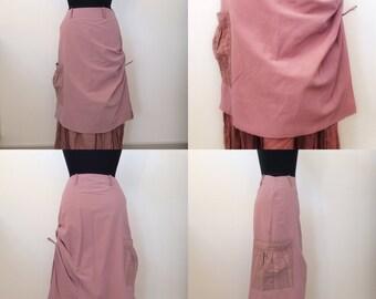 Vintage skirt, long skirt, maxi skirt, boho skirt, high waist pencil skirt, skirt