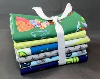 "HUGE SUMMER SALE Meet the Royal Court Fat Quarter Bundle by Jill McDonald for Windham Fabrics ~ 6 King, Queen, Princess 18""x22"" PreCut Cotto"