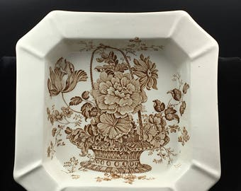 Antique Transfer Ware, Ironstone, Brown Transfer Ware, Royal Crownford, J H Weatherby & Sons (Ltd), Staffordshire, England