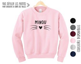 MINOU.Unisex Crewneck Sweatshirt.Petite Gazelle Atelier