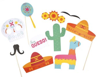 Fiesta Photo Props | Fiesta | Photo Booth | Fiesta Party | Cinco De Mayo | Fiesta Birthday | Mexican Fiesta | Fiesta Decorations | Fiesta