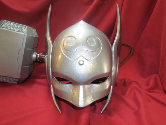 Lady Thor Jane Foster Marvel Winged Helmet Prop 3D Printed for