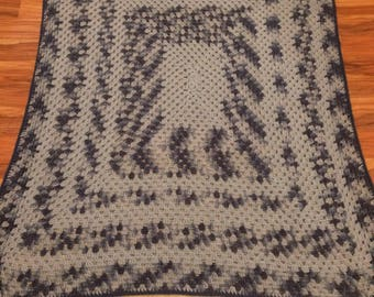 Blue Afghan Throw