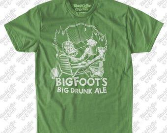 Funny Saint Patrick's Day Green Shirt! - Sasquatch Mens Shirt -Bigfoot Beer Shirt - Yeti Sasquatch shirt