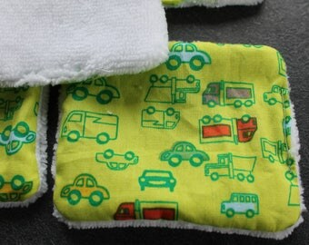 wipes / cleansing drive washable green truck for baby boy or MOM