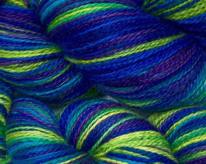 Indie dyed BFL fingering weight yarn.  Hand dyed for your next knitting, crochet, or weaving project.
