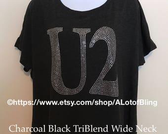 U2 Rhinestone Heart T-Shirt