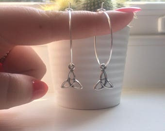 Celtic knot hoop earrings