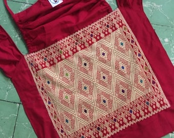 Mei tai with mexican artisan embroidery from Chiapas