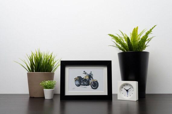 Harley Davidson Fatboy | Art Print | Instant Digital Download
