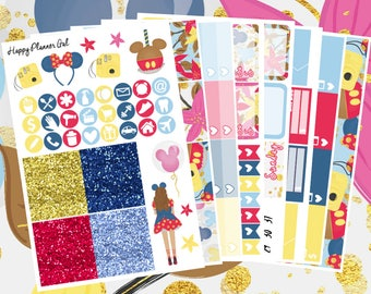 Disney Sticker Kit // 8 Page Weekly Sticker Kit Made for the Erin Condren Life Planners