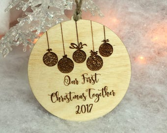 Ornament, Our First Christmas Together Ornament, Tree Ornament, Stocking Stuffer, Wooden Ornament, Handmade Ornament, First Christmas
