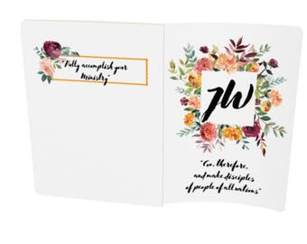 JW NOTEBOOK   Pioneer Gift   JW Gift   Meeting Notebook   Convention Notebook   Floral   Bullet Journal