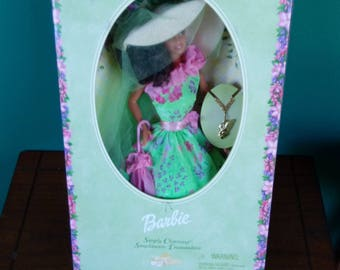Simply Charming Collector Barbie Doll Green Floral Dress Hispanic Doll
