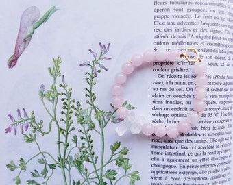 Sweetness - Quartz and Rose Quartz Bracelet