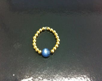 Gold filled 14 k and kyanite ring