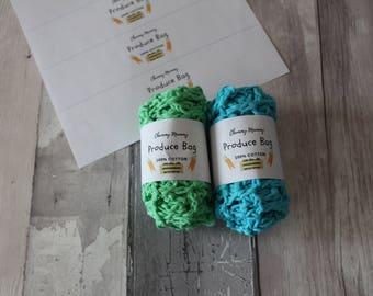 PRODUCE BAGS mesh net cotton produce bag reusable produce bag fruit bags shopping bags vegetable bags eco friendly zero waste