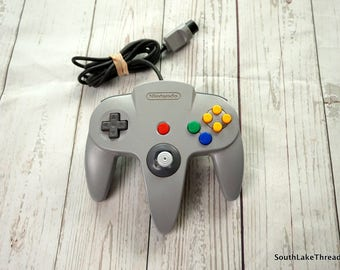 Nintendo 64 Controller , N64 Controller, Original Controller - Tested and Working Good Shape - Grey