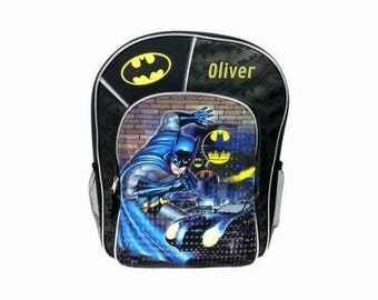 Personalized Batman Character Backpack - 16 Inch