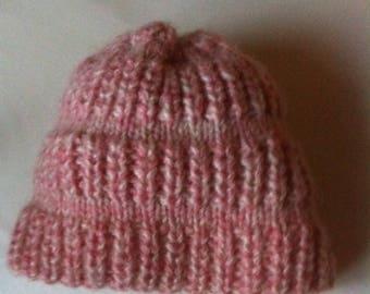 Hat girl mohair and wool handmade