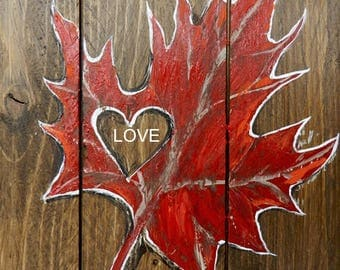 Canada flag,maple leaf,Canada decor,Canada sign,Canada day,Canadian decor,Canadian maple leaf,hand painted sign,made in Canada