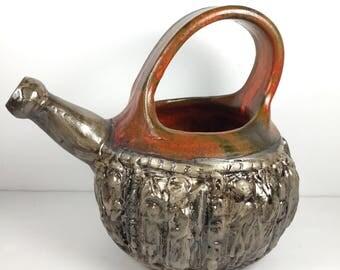 Mid Century Brutalist Italian Fratelli Fanciullacci Ceramic Pitcher Bitossi Vintage