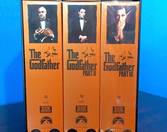 SALE! The Godfather Collection - Boxed Collector's Trilogy Set (VHS, 1997) THX Digitally Remastered, Paramount - 6 Tapes