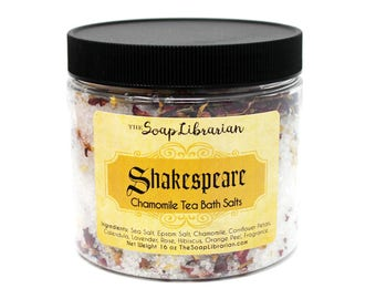 Shakespeare Bath Salts - Chamomile Tea Bath - Book Lovers Gift