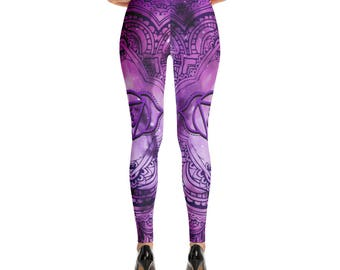 Cosmic Purple 3rd Eye Chakra Leggings