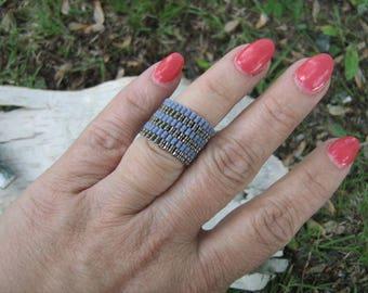 Bead Woven Ring miyuki