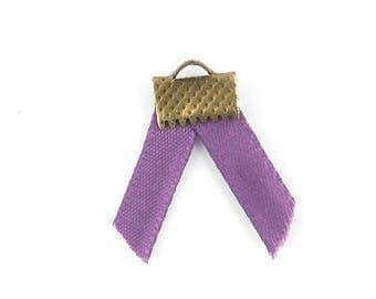 x2m medium purple satin ribbon 5mm (50A)