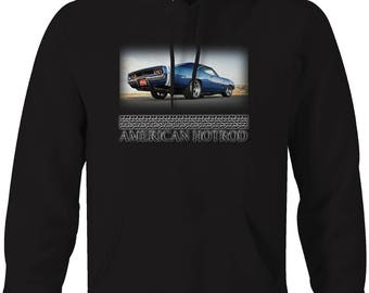 American Hotrod Dodge Charger R/T Muscle Car Mountains Hooded Sweatshirt- 5049
