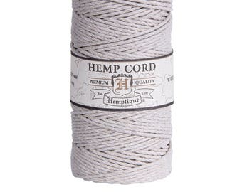 Natural Hemp Cord / Twine for gift wrapping - 62.5m spool by Hemptique