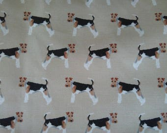 Wired Haired Fox Terrier cushion cover